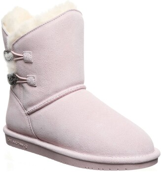 BearPaw Rosaline Genuine Shearling Lined Suede Boot
