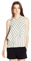 XOXO Women's Asymmetrical Sleeveless Top