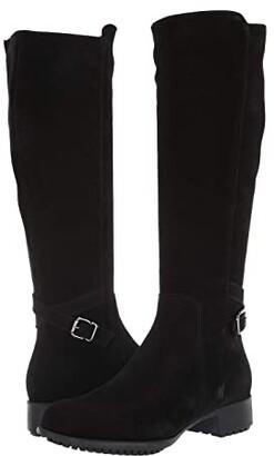 La Canadienne Stella (Black Suede) Women's Dress Zip Boots