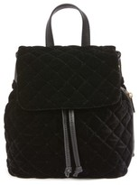 BP Quilted Velvet Backpack - Black