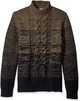 Calvin Klein Jeans Men's Ombre Cable Knit Turtle Neck Sweater