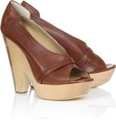 Chloè Chunky wooden heel platforms