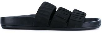 Rick Owens three strap sandals