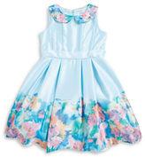 Us Angels Girls 2-6x Little Girls Satin Floral Dress