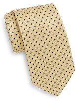 Saks Fifth Avenue Diamond Grid Silk Tie