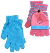 Girls 4-16 DreamWorks Trolls Poppy 2-pk. Convertible Flip-Top Fingerless Gloves