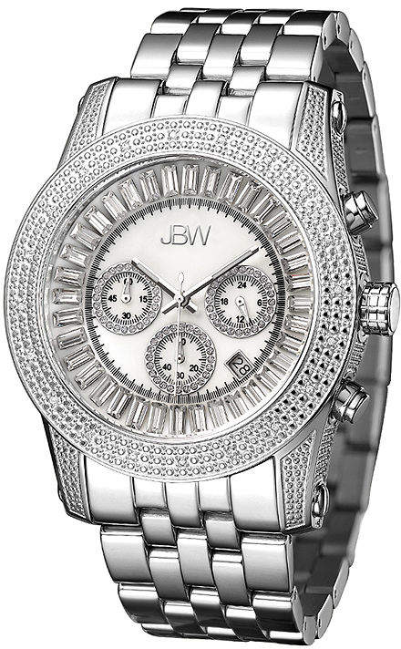 JBW Krypton Mens 1/3 CT. T.W. Diamond Stainless Steel Watch JB-6219-A