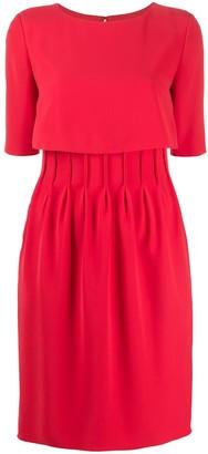 Emporio Armani Pleated Mini Dress