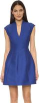 Halston Cap Sleeve Structured Dress