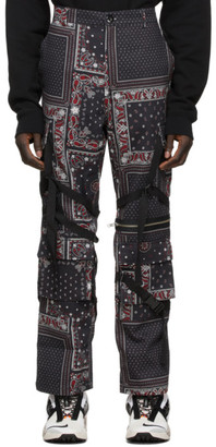 ROGIC Black and Red Paisley Cargo Pants