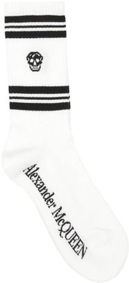 Alexander McQueen Logo Skull Crew Socks