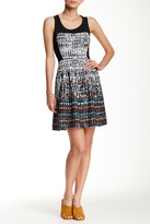 GUESS Print Fit & Flare Dress