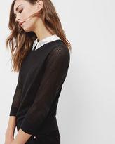 CAROLLI Embellished collar sweater
