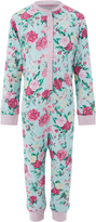 Monsoon Florencia Rose Print Jersey Sleepsuit