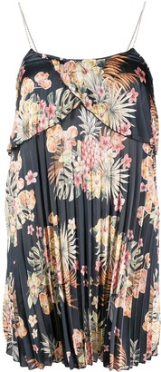 Liu Jo Floral Print Pleated Dress