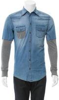 Dolce & Gabbana Denim Button-Up Shirt w/ Tags