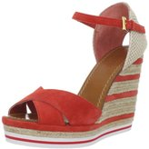 Women's Striped Wedge Sandal