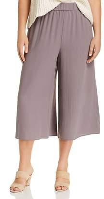 Eileen Fisher Plus Wide-Leg Silk Culottes