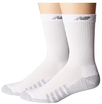 New Balance 2-Pack CoolMax Crew (White) Crew Cut Socks Shoes