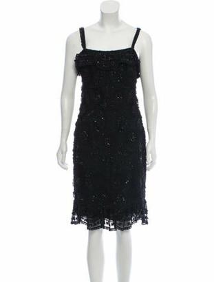 Naeem Khan Silk Evening Dress Black