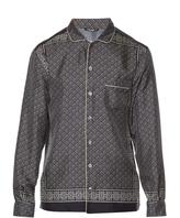 Dolce & Gabbana Tile-print silk shirt