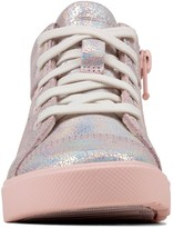Clarks City Oasis Toddler Girls High Top Trainers - Pink
