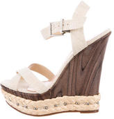 Schutz Embellished Wedge Sandals