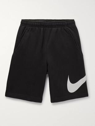 Nike Sportswear Club Logo-Print Fleece-Back Jersey Drawstring Shorts