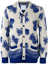 Sacai pineapple print cardigan - men - Cotton - 1