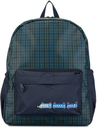 Familiar Gingham Checked Backpack
