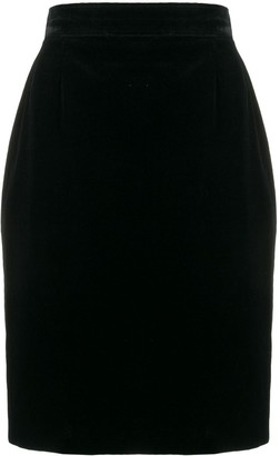 Saint Laurent Pre Owned 1980's mini fitted skirt