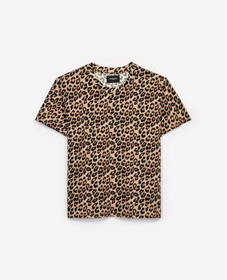 The Kooples Designer T-shirt for women with leopard print
