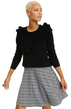 Charter Club Cashmere Ruffle-Trim Sweater, Regular & Petite Sizes, Created for Macy's
