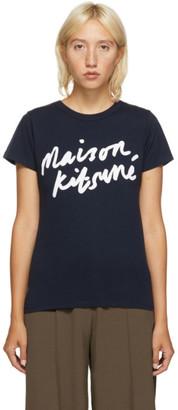 MAISON KITSUNÉ Navy Handwriting Classic T-Shirt