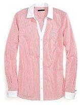 Tommy Hilfiger Women's Striped Stretch Shirt