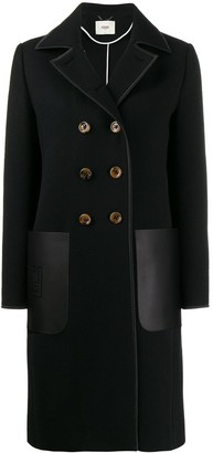 Fendi Patch Pocket Peacoat