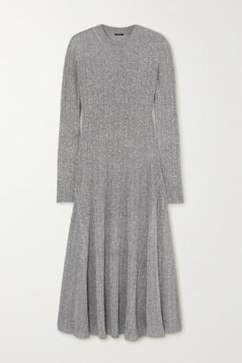 Joseph Diva Ribbed Lurex Midi Dress - Dark gray