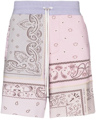 Amiri Bandana-Print Cotton Shorts