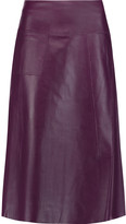 Raoul Leather midi skirt