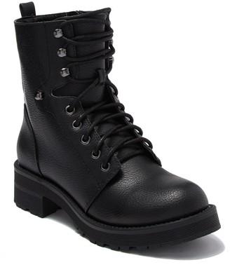 Mia Indigo Combat Boot