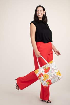Trina Turk Patio Swing Floral Canvas Tote