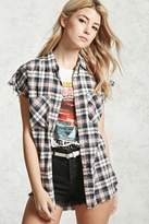 Forever 21 Frayed Plaid Shirt