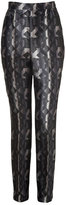Peter Pilotto Black-Multi Printed Silk Grace Pants