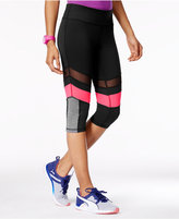 Material Girl Active Juniors' Illusion Colorblocked Cropped Leggings, Only at Macy's