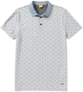 HUGO BOSS BOSS Orange Jacquard Pixel Short-Sleeve Polo Shirt