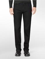 Calvin Klein Straight Leg Black Wash Cotton Stretch Jeans