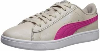 Puma Women's Vikky Sneaker Peach Bud Silver-Whisper White 11 M US