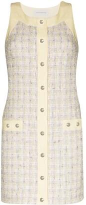 Faith Connexion Tweed Button Mini Dress