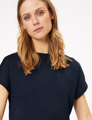 Marks and Spencer Slash Neck Straight Fit Blouse
