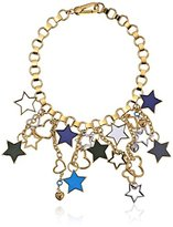 """Marc Jacobs Super Star"""" Gold-Tone Chain And Charm Necklace, 12"""""""